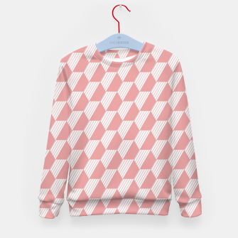 Thumbnail image of Pink Hexagonal Geometric Pattern Kid's sweater, Live Heroes