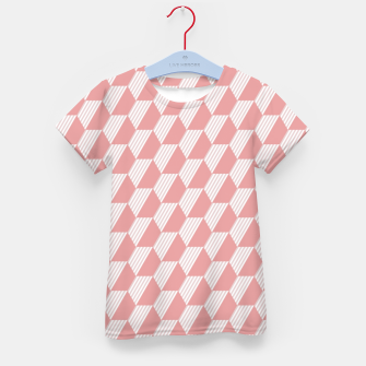 Thumbnail image of Pink Hexagonal Geometric Pattern Kid's t-shirt, Live Heroes