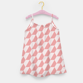 Thumbnail image of Pink Hexagonal Geometric Pattern Girl's dress, Live Heroes