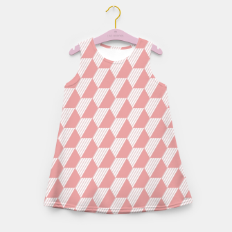 Thumbnail image of Pink Hexagonal Geometric Pattern Girl's summer dress, Live Heroes