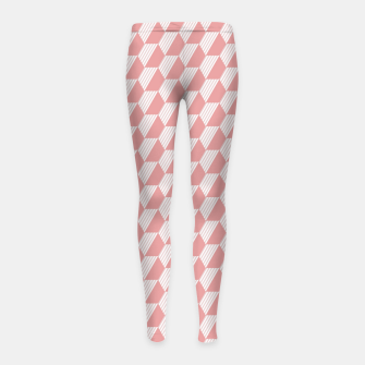Thumbnail image of Pink Hexagonal Geometric Pattern Girl's leggings, Live Heroes