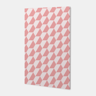 Thumbnail image of Pink Hexagonal Geometric Pattern Canvas, Live Heroes
