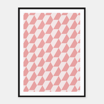 Thumbnail image of Pink Hexagonal Geometric Pattern Framed poster, Live Heroes