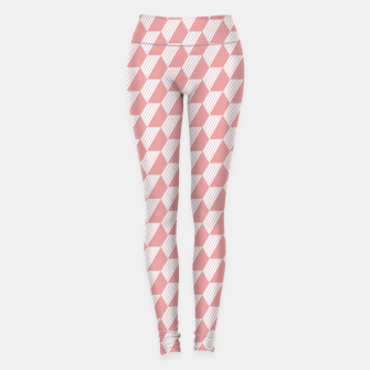 Thumbnail image of Pink Hexagonal Geometric Pattern Leggings, Live Heroes