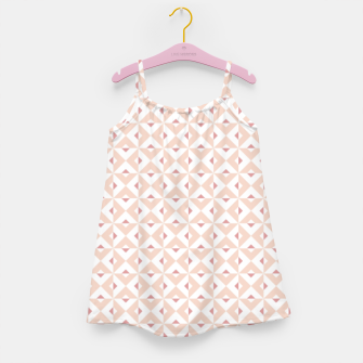 Thumbnail image of Pink Cross Geometric Pattern Girl's dress, Live Heroes