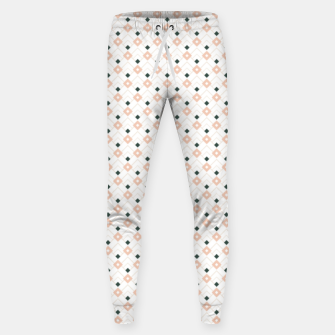 Miniatur Pink and Teal Lattice Pattern Sweatpants, Live Heroes