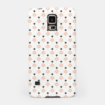 Miniatur Pink and Teal Lattice Pattern Samsung Case, Live Heroes
