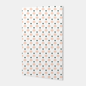Miniatur Pink and Teal Lattice Pattern Canvas, Live Heroes