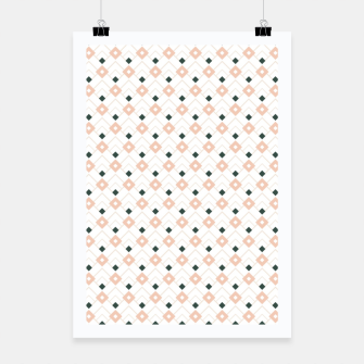 Miniatur Pink and Teal Lattice Pattern Poster, Live Heroes