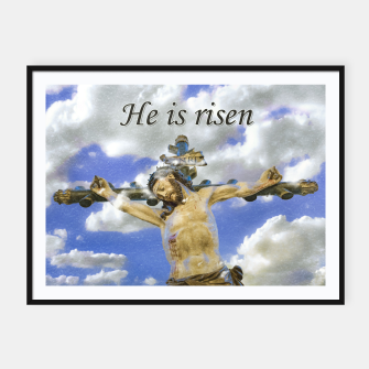 Thumbnail image of Easter Concept Pop Art Print Framed poster, Live Heroes