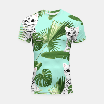 Thumbnail image of Baby Cat in the Jungle #2 (Kids Collection) #tropical #animal #decor #art Shortsleeve rashguard, Live Heroes