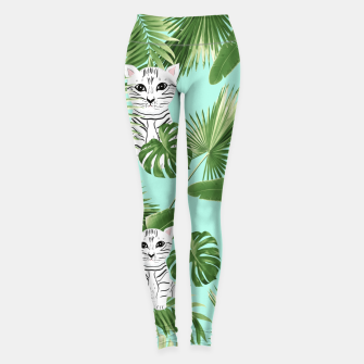Thumbnail image of Baby Cat in the Jungle #2 (Kids Collection) #tropical #animal #decor #art Leggings, Live Heroes