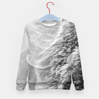 Imagen en miniatura de Black & White Ocean Dream Waves #1 #water #decor #art Kindersweatshirt, Live Heroes
