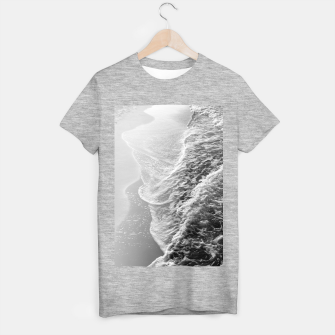 Imagen en miniatura de Black & White Ocean Dream Waves #1 #water #decor #art T-Shirt regulär, Live Heroes