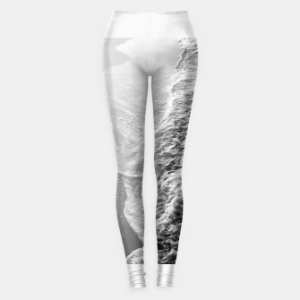 Imagen en miniatura de Black & White Ocean Dream Waves #1 #water #decor #art Leggings, Live Heroes