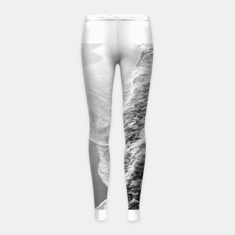 Imagen en miniatura de Black & White Ocean Dream Waves #1 #water #decor #art Kinder-Leggins, Live Heroes