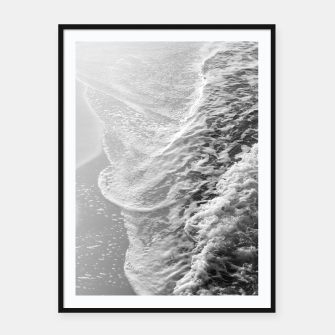 Miniaturka Black & White Ocean Dream Waves #1 #water #decor #art Plakat mit rahmen, Live Heroes