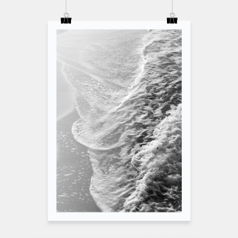 Thumbnail image of Black & White Ocean Dream Waves #1 #water #decor #art Plakat, Live Heroes