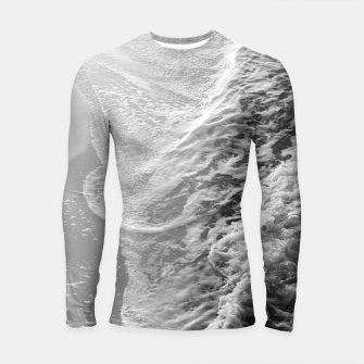 Miniatur Black & White Ocean Dream Waves #1 #water #decor #art Longsleeve rashguard, Live Heroes