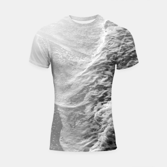 Thumbnail image of Black & White Ocean Dream Waves #1 #water #decor #art Shortsleeve rashguard, Live Heroes