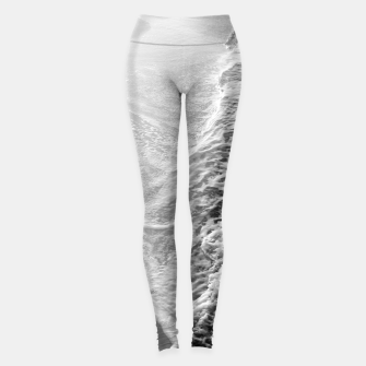 Miniatur Black & White Ocean Dream Waves #1 #water #decor #art Leggings, Live Heroes