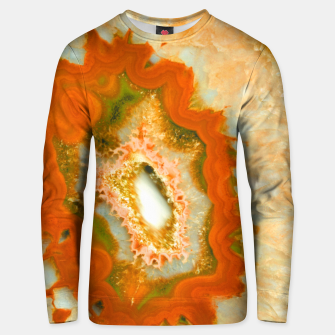Orange Green Agate #1 #gem #decor #art  Unisex sweatshirt obraz miniatury
