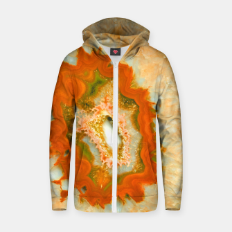Thumbnail image of Orange Green Agate #1 #gem #decor #art  Reißverschluss kapuzenpullover, Live Heroes