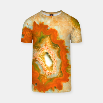 Orange Green Agate #1 #gem #decor #art  T-Shirt obraz miniatury
