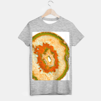 Orange Green Agate #1 #gem #decor #art  T-Shirt regulär obraz miniatury