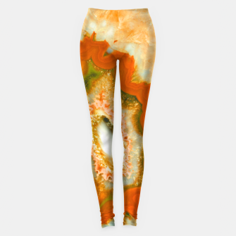 Miniatur Orange Green Agate #1 #gem #decor #art  Leggings, Live Heroes