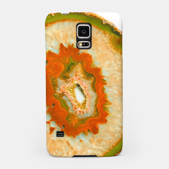 Miniatur Orange Green Agate #1 #gem #decor #art  Handyhülle für Samsung, Live Heroes