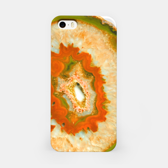 Orange Green Agate #1 #gem #decor #art  iPhone-Hülle obraz miniatury