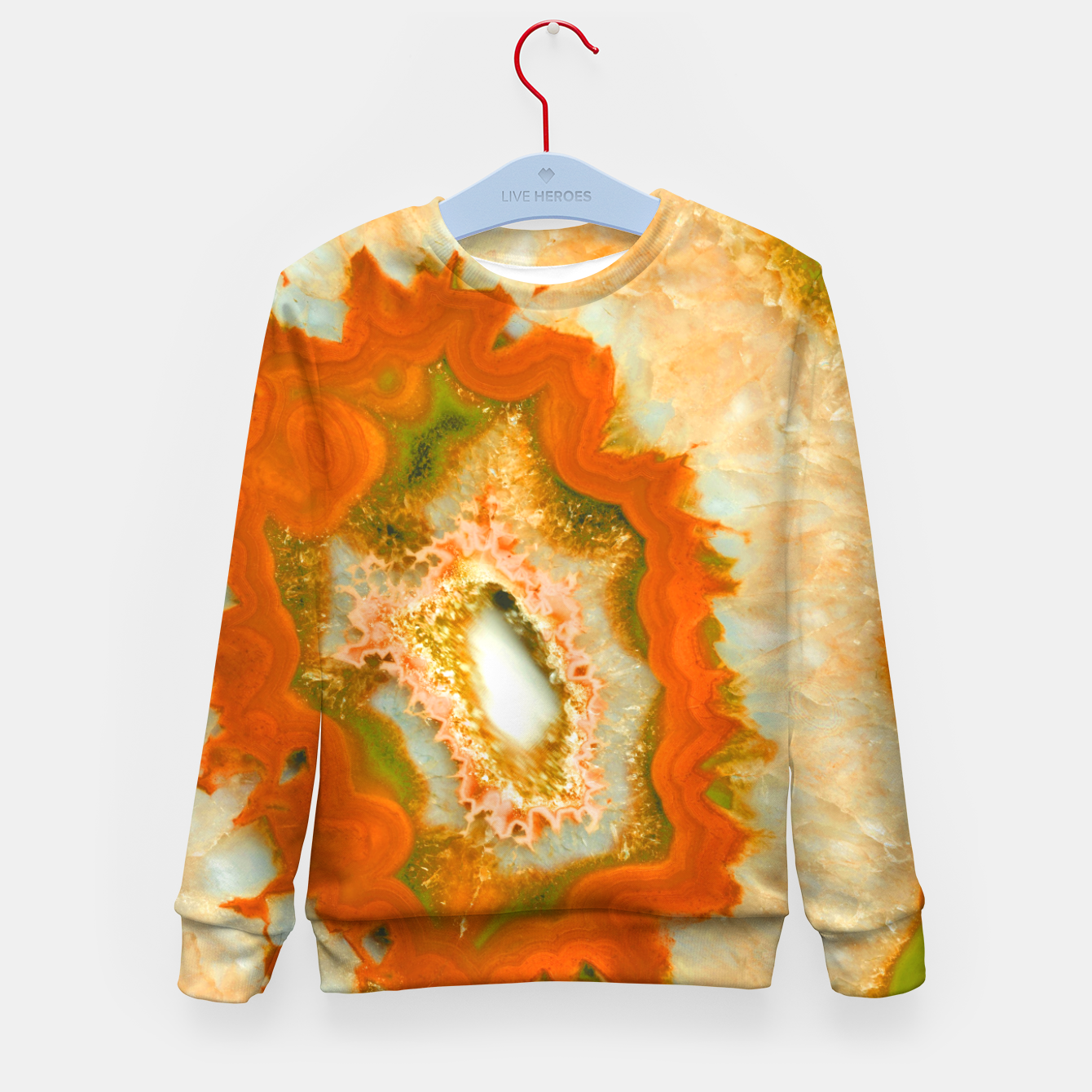 Zdjęcie Orange Green Agate #1 #gem #decor #art  Kindersweatshirt - Live Heroes