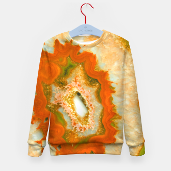 Miniatur Orange Green Agate #1 #gem #decor #art  Kindersweatshirt, Live Heroes