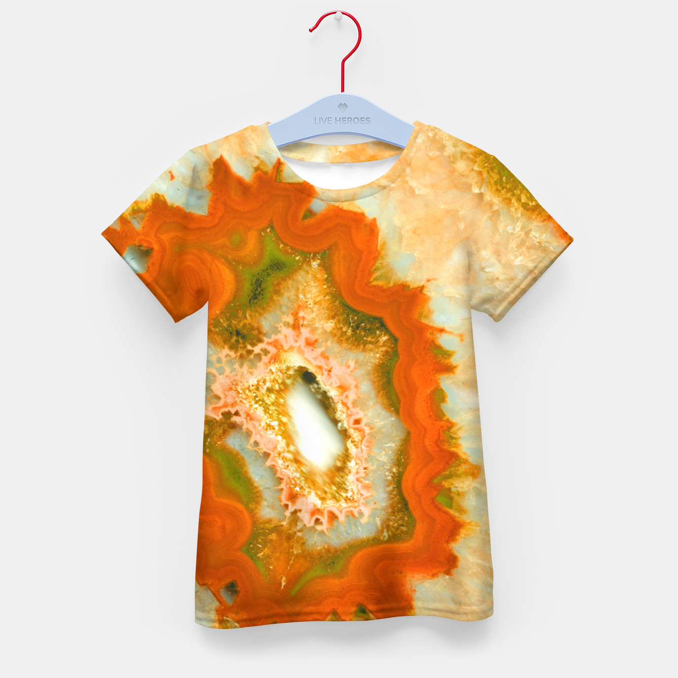 Zdjęcie Orange Green Agate #1 #gem #decor #art  T-Shirt für kinder - Live Heroes