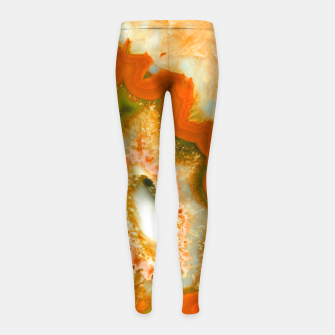 Thumbnail image of Orange Green Agate #1 #gem #decor #art  Kinder-Leggins, Live Heroes