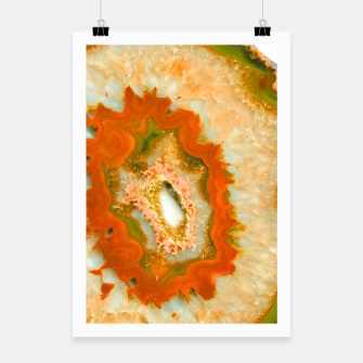 Thumbnail image of Orange Green Agate #1 #gem #decor #art  Plakat, Live Heroes
