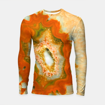 Orange Green Agate #1 #gem #decor #art  Longsleeve rashguard obraz miniatury