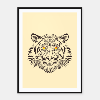 Thumbnail image of Tiger in danger by #Bizzartino Framed poster, Live Heroes