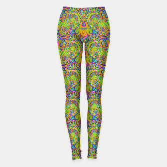 Miniatur Orange portal pattern Leggings, Live Heroes