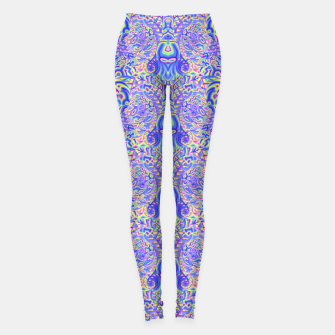 Miniatur Light purple portal pattern Leggings, Live Heroes