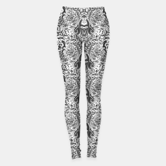 Miniatur black and white portal pattern2 Leggings, Live Heroes