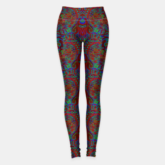 Thumbnail image of Burnt burgandy portal pattern  Leggings, Live Heroes