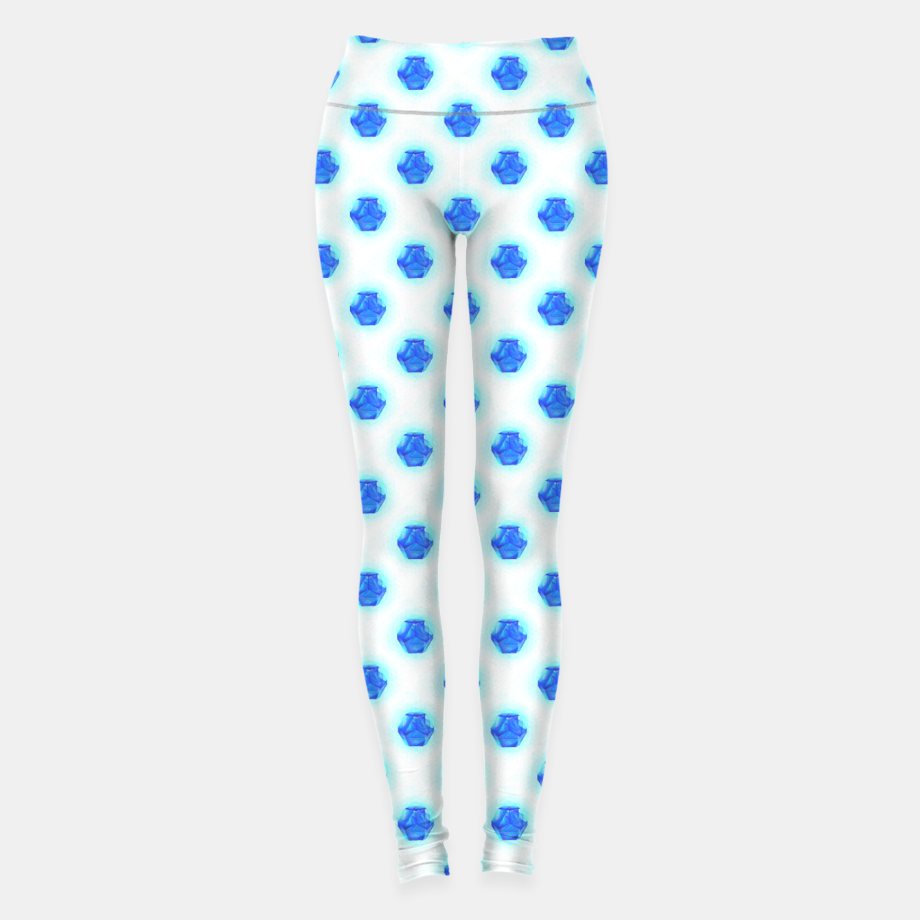 Image of Metatrons Matrix Cool Blue Leggings - Live Heroes
