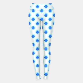 Miniatur Metatrons Matrix Cool Blue Leggings, Live Heroes