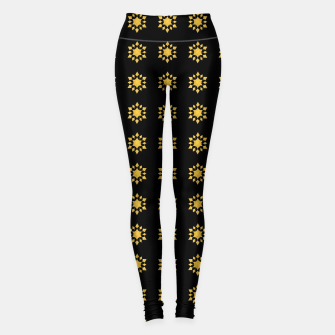 Miniatur Communication Wealth Amulet Pattern Leggings, Live Heroes