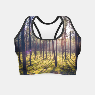 Thumbnail image of forest sun Crop Top, Live Heroes