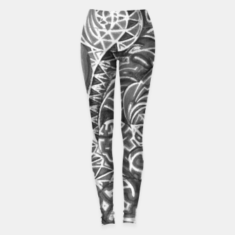 Miniatur Black and whilte language portal Leggings, Live Heroes