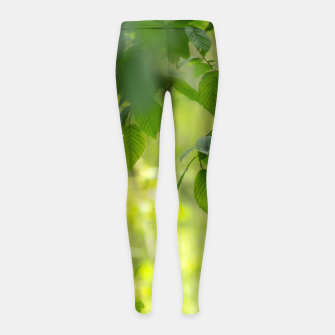 Thumbnail image of Spring leafs Legginsy dziewczęce, Live Heroes