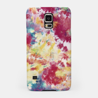 Miniatur Red, Blue and Yellow Summer Tie Dye Batik Wax Tie Die Print Samsung Case, Live Heroes